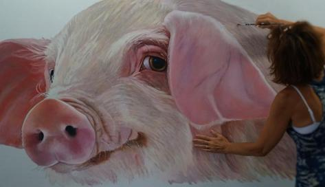 pig-painting